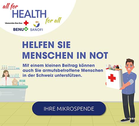 Spendenaktion Schweizerisches Rotes Kreuz / Sanofi
