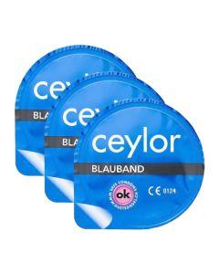 Bande bleue préservatif