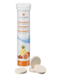 Comprimés effervescents multivitamines - Arôme fruits exotiques