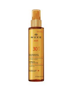 SPF 30 huile bronzante haute protection