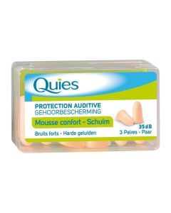 Tampons protection bruit mousse chair 3 paires