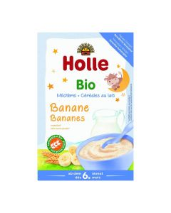 Bouillie au lait banane bio